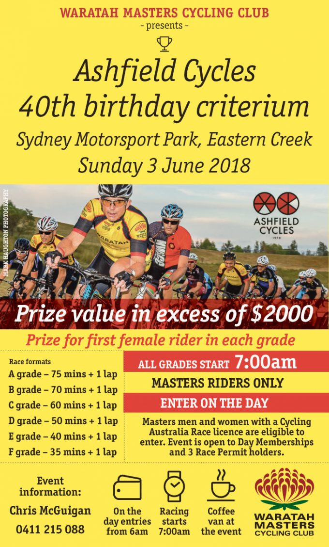 Ashfield Cycles 40th Birthday Criterium