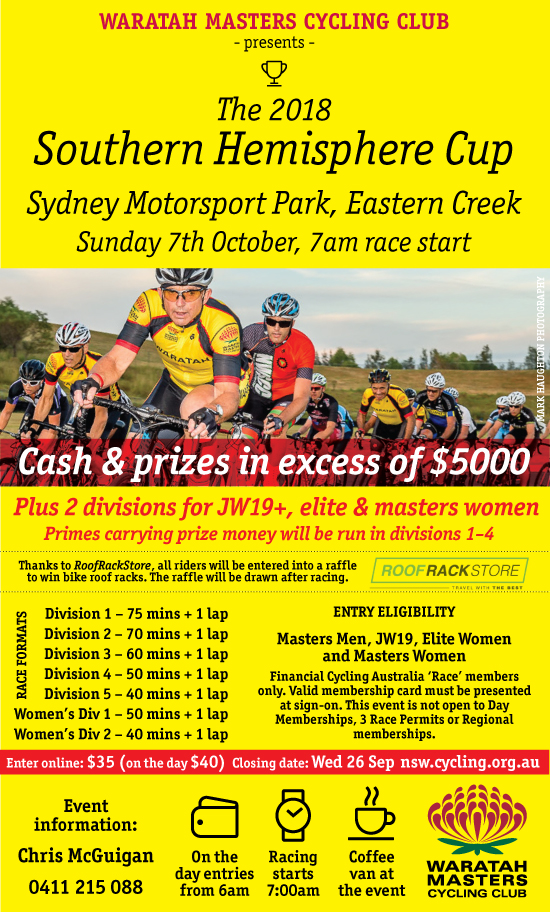 SOUTHERN HEMISPHERE CUP – SUNDAY 7TH OCTOBER. ENTRIES CLOSE WEDNESDAY