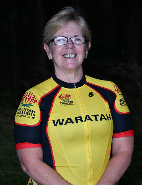 Joanne Cameron waratah masters cycling Chief Commisaire